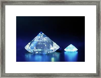 Diamonds Under Uv Light Framed Print by Patrick Landmann
