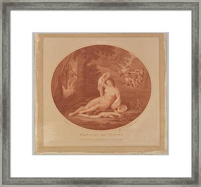 Diana And Her Nymphs Framed Print by John Baldrey