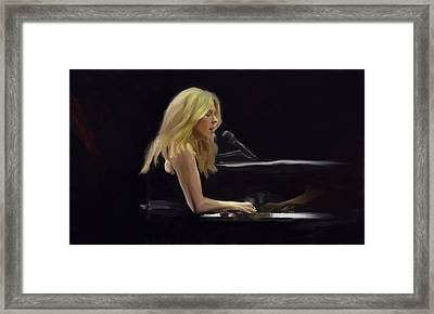 Diana Krall Framed Print by G Cannon