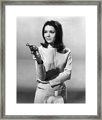 Diana Rigg In The Avengers  Framed Print by Silver Screen