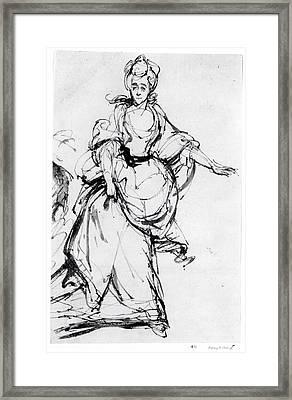 Diana, Viscountess Crosbie Framed Print by England, after Sir Joshua Reynolds