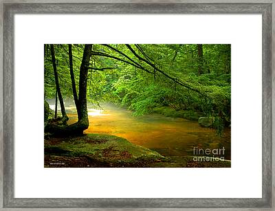 Diana's Bath Stream Framed Print