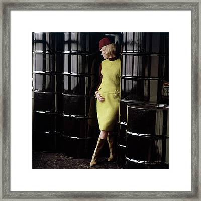 Diane Kinney Wearing Yellow Framed Print