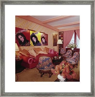 Diane Von Furstenberg's New York Living Room Framed Print