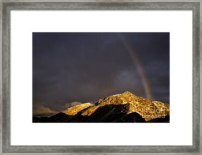 Diavolezza Sunrise Rainbow Framed Print