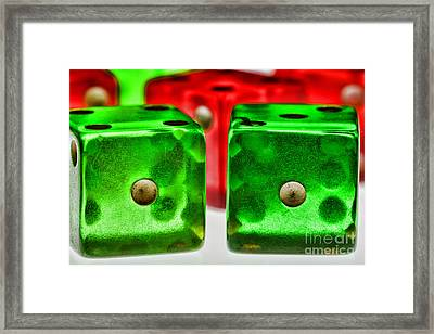 Dice - Craps Framed Print by Paul Ward