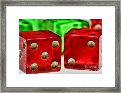 Dice - Lucky Seven Framed Print by Paul Ward