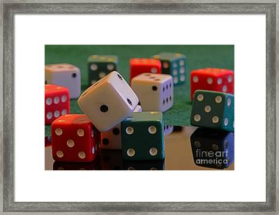 Dice Framed Print by Paul Ward