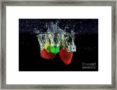 Dice Splash Framed Print by Rene Triay Photography