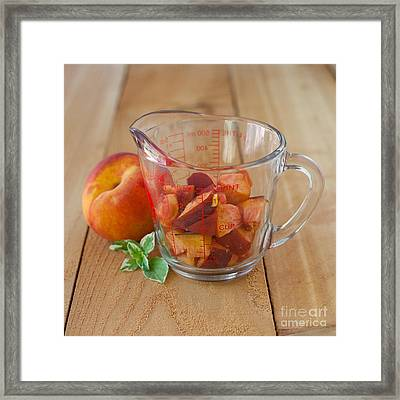 Diced Peaches Framed Print by Kay Pickens
