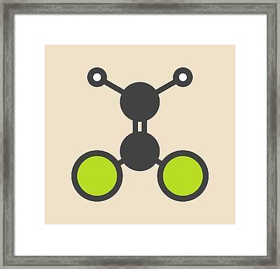 Dichloroethene Molecule Framed Print by Molekuul