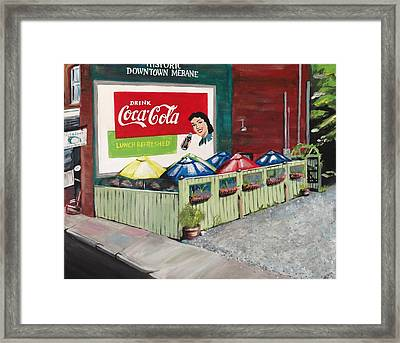 Dick And Jane's Patio Framed Print by Alicia Tanner