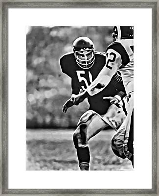 Dick Butkus Framed Print
