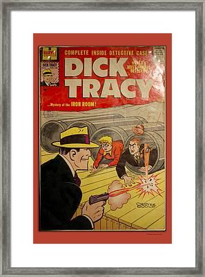 Dick Tracy Iron Room Comic Book Framed Print