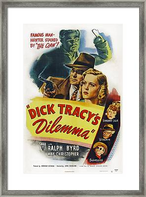 Dick Tracys Dilemma, Upper Center Framed Print by Everett