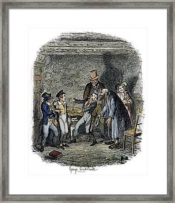 Dickens Oliver Twist, 1838 Framed Print by Granger