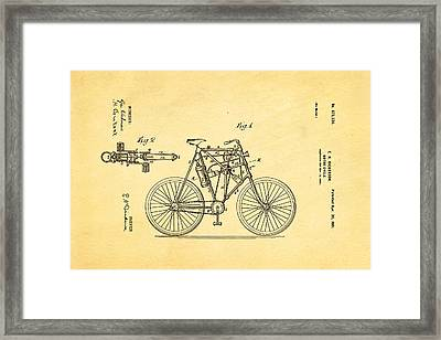 Dickerson Motor Cycle Patent Art 1901 Framed Print by Ian Monk