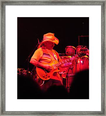 Dickey Betts Jammin Framed Print by Mike Martin