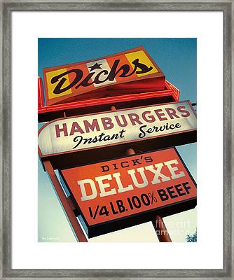 Dick's Hamburgers Framed Print by Jim Zahniser