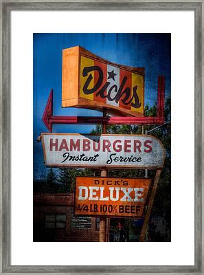 Dick's Hamburgers Framed Print