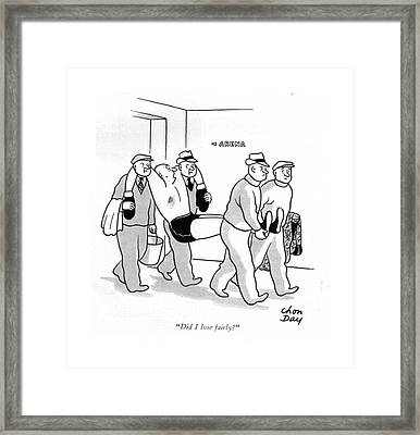 Did I Lose Fairly? Framed Print by Chon Day