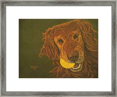 Framed Print featuring the painting Did Somebody Say Ball? by Wendy Shoults