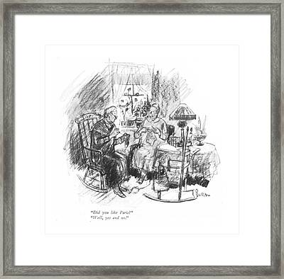 Did You Like Paris? Well Framed Print