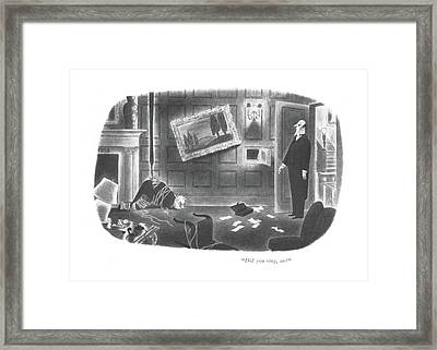 Did You Ring Framed Print by Richard Taylor