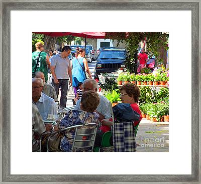 Did You Say You Went On Vacation? Framed Print by Tina M Wenger