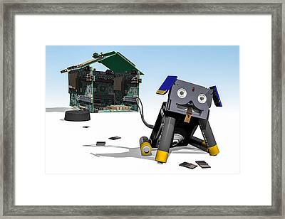 Didgie The Digital Dog Framed Print by Randy Turnbow