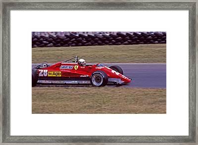 Didier's Ferrari Framed Print