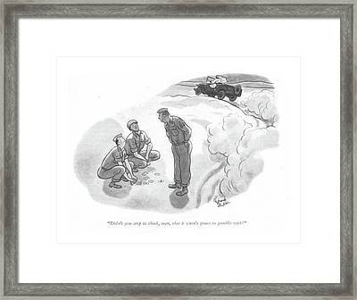 Didn't You Stop To Think Framed Print by Richard Decker