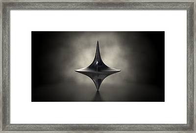 Die Cast Spinning Top Silhouetted Framed Print