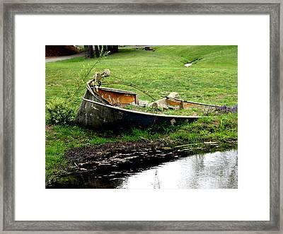Die Hard Fisherman Framed Print