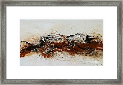 Die Trying1 - Abstract Art Framed Print by Ismeta Gruenwald