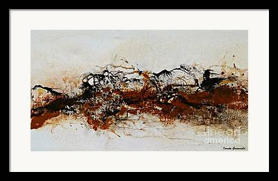 Abstract Art In Earthtone Colors Framed Prints
