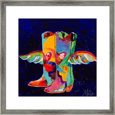 Die With Your Boots On Framed Print by Tracy Miller