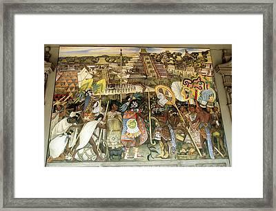 Diego Rivera Mural Framed Print