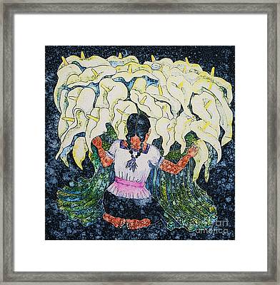 Diego's Calla Framed Print by Victoria Page