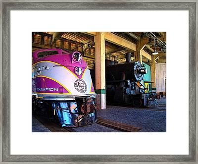 Diesel And Steam Framed Print