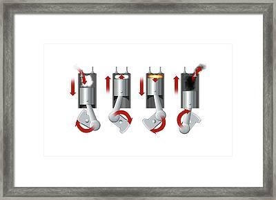 Diesel Engine Cylinder Framed Print by Mikkel Juul Jensen