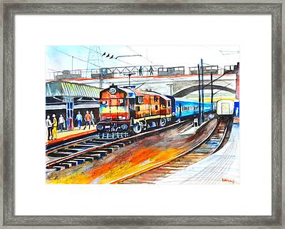 Diesel Engine Framed Print