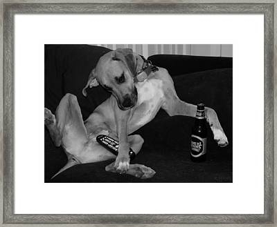 Diesel In Black And White Framed Print by Rob Hans