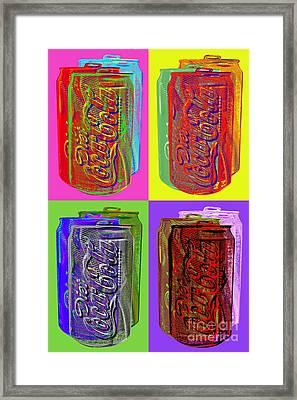 Diet Coke - Coca Cola Framed Print by Jean luc Comperat