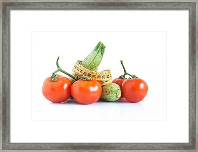 Diet Ingredients Framed Print