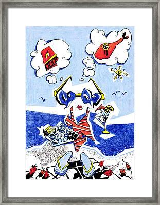 Dieta - Vacaciones Humor Y Ocio Framed Print by Arte Venezia