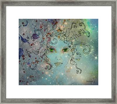 Framed Print featuring the digital art Different Being by Barbara Orenya
