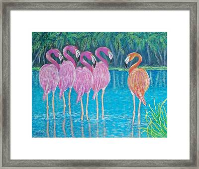Framed Print featuring the painting Different But Alike by Susan DeLain
