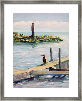Framed Print featuring the painting Different Views by Mary Schiros