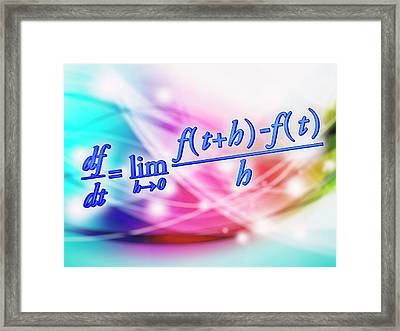 Differential Calculus Equation Framed Print by Alfred Pasieka